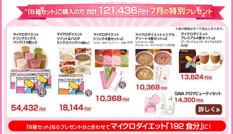 セルフチョイスパック8箱112食分+キャンペーン特典
